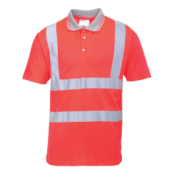 S477 - POLO HI-VIS ROUGE