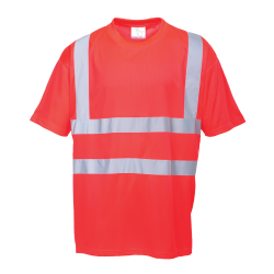 S478 - T-SHIRT HI-VIS ROUGE